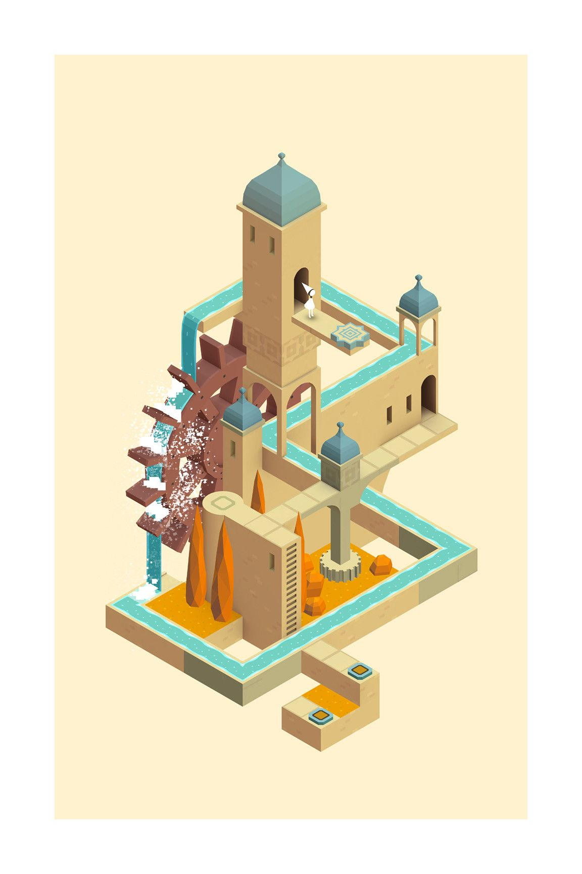 Waterwheel Iam8bit With Images Monument Valley Game
