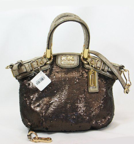 Coach Limited Edition Sequin Mini Sophia Satchel Bag Purse Tote 18638 Pewter 359 99