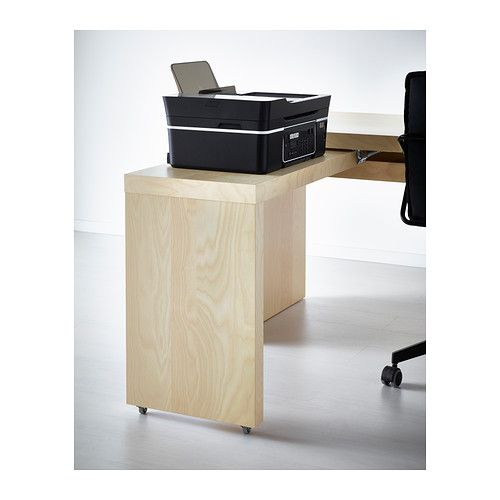MALM Desk With Pull Out Panel, Black Brown