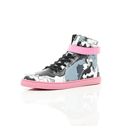black joseph turvey camo print high tops  trainers / high