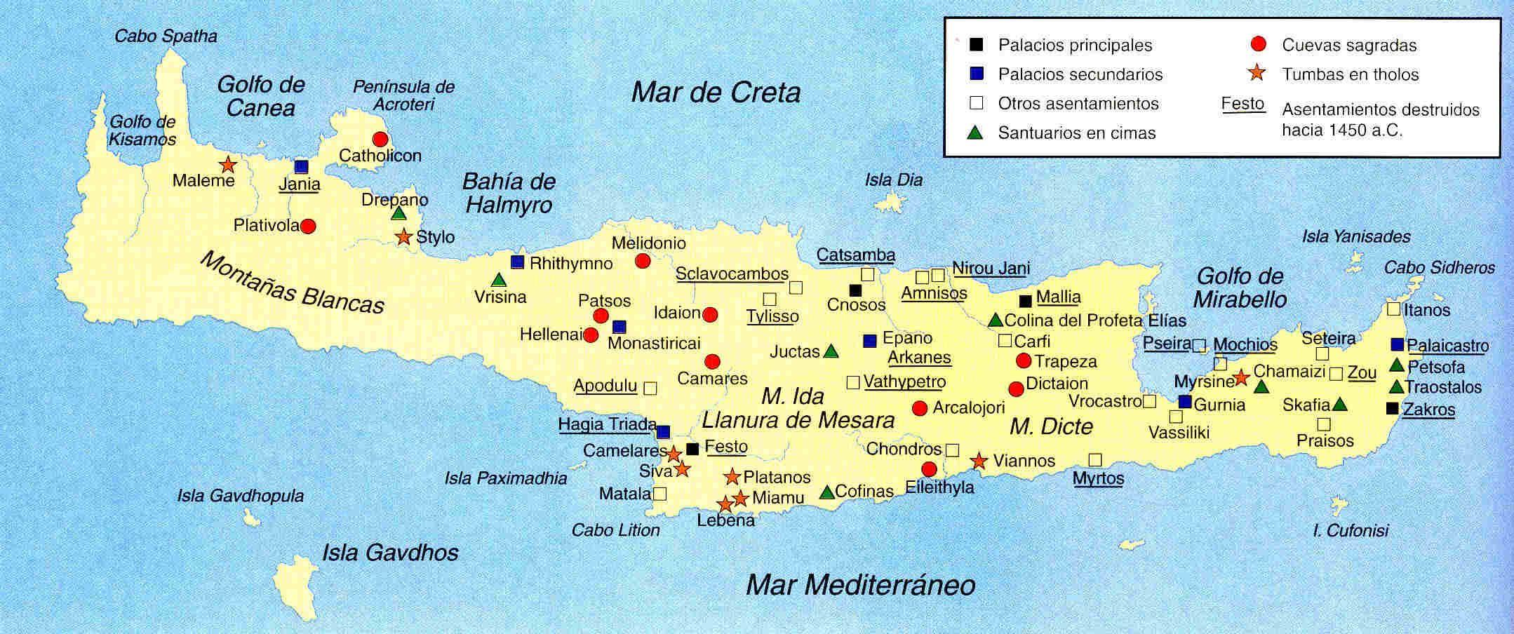 Resultado De Imaxes Para Mapa Creta Minoica Griechische