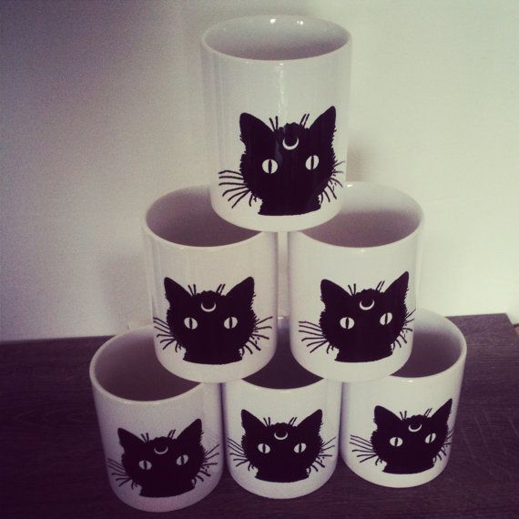 BlackMoonPuss - Black cat of the moon mug *for members of the BCC*