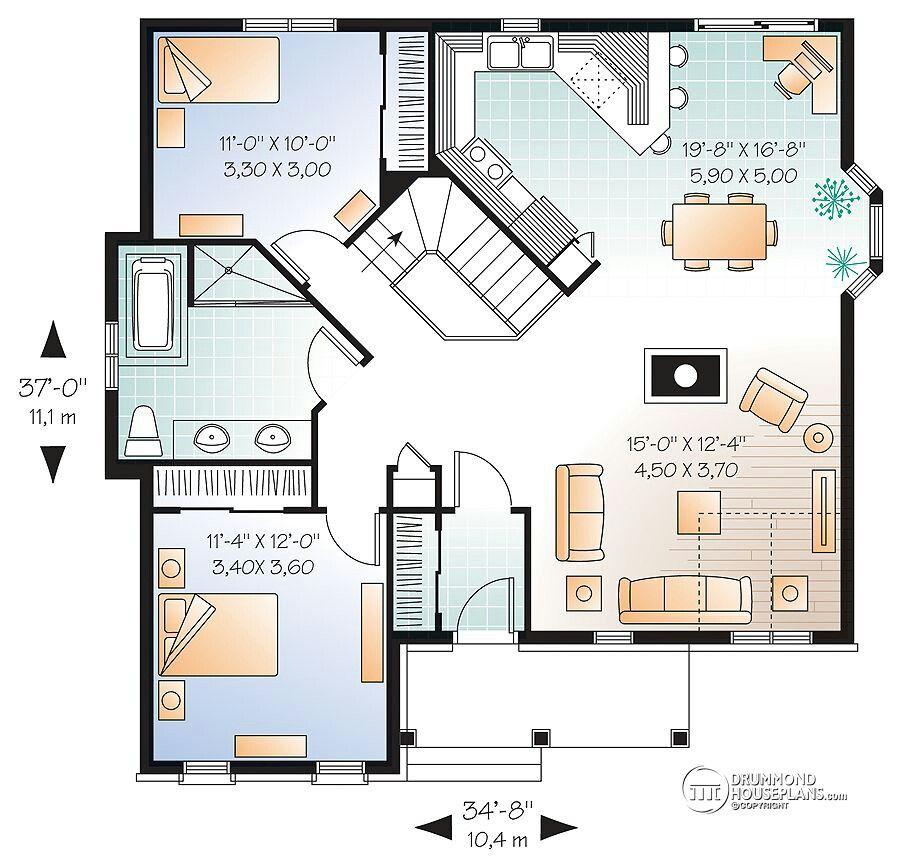 Casa 2 quartos @@ Floor Plans Pinterest House and Interiors