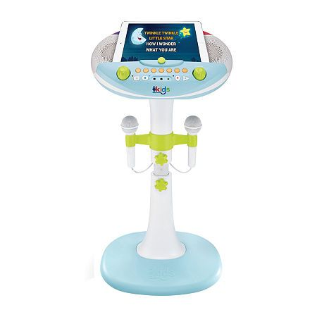 Singing Machine Kids Pedestal Karaoke System with Stand, One Size , White