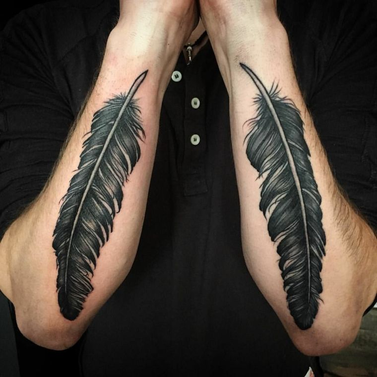 Tatuajes De Plumas Significado Disenos Estilos Y Mas De 50 Fotos Para Inspirar Tatuajes De Plumas Significado Del Tatuaje De Pluma Tatuajes Para Hombres