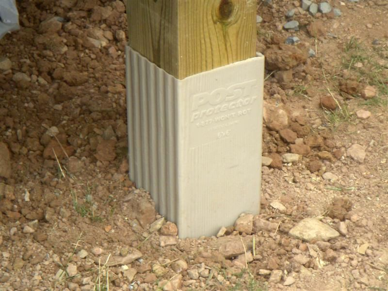Pole barn post protectors at share for Garage pole cover