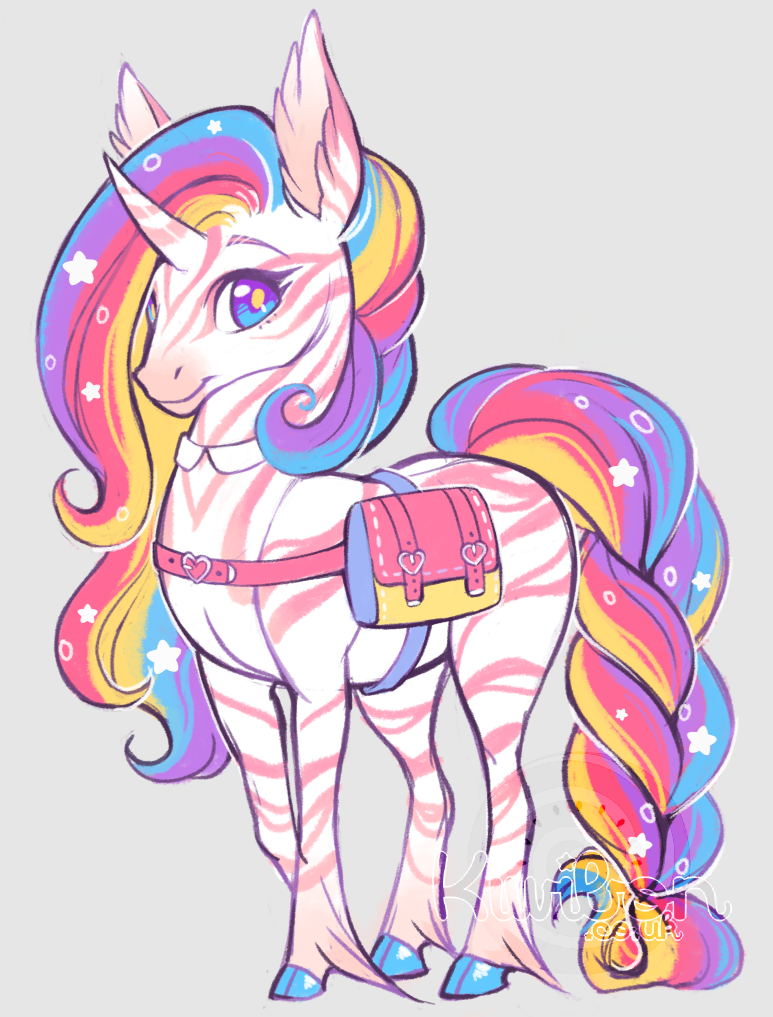 Rainbow Unicorn By Kiwibon Unicorn Wallpaper Unicorn Pictures