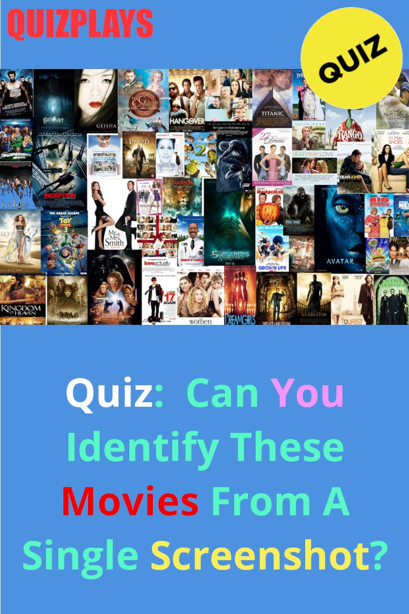 Quiz Can You Identify These Movies From A Single Screenshot