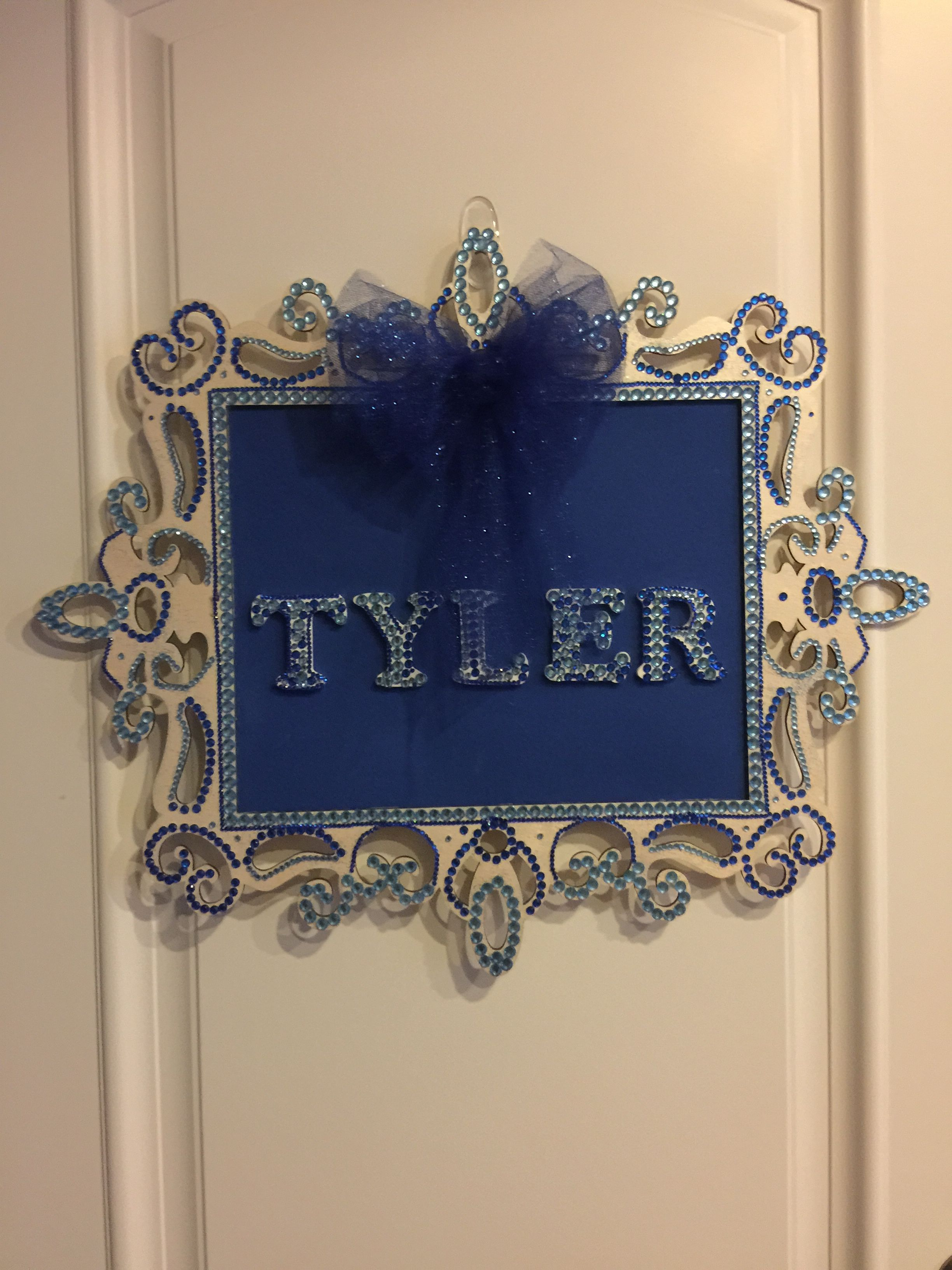 Baby Tyler Door Name Plate Decorative Wood Board For His Room