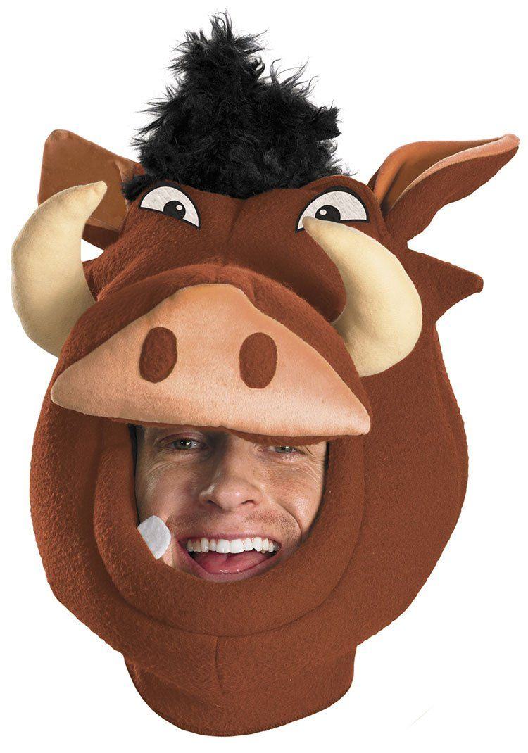The Lion King Pumba Mask Headpiece | Lion King Costumes | Pinterest ...