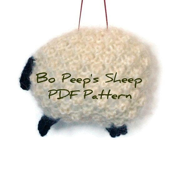 Knitting Pdf Sheep Pattern White Wool Mohair By Buttermilkcottage