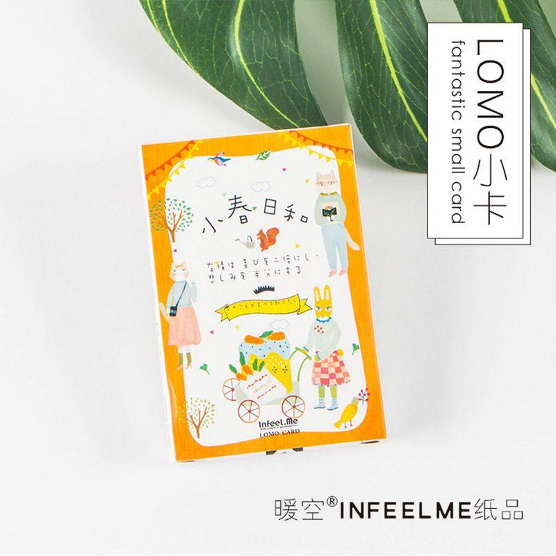 28 pcs/set Cartoon cat Japanese mini card greeting card lomo memo