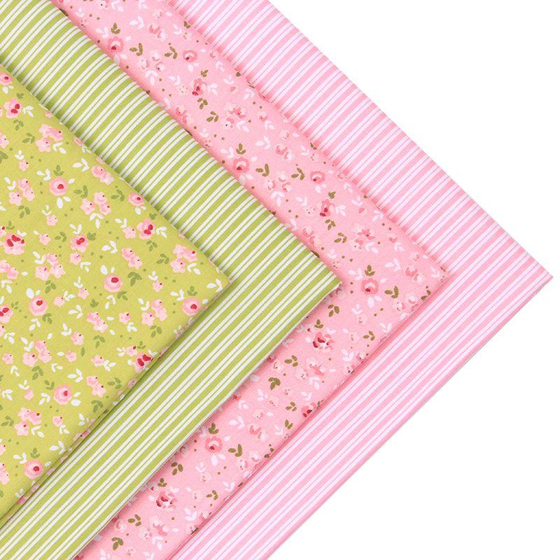 2016New 4pic/lot 40*50cm flower cotton fabric tecidos algodao para ... : cheap quilting fabric australia - Adamdwight.com