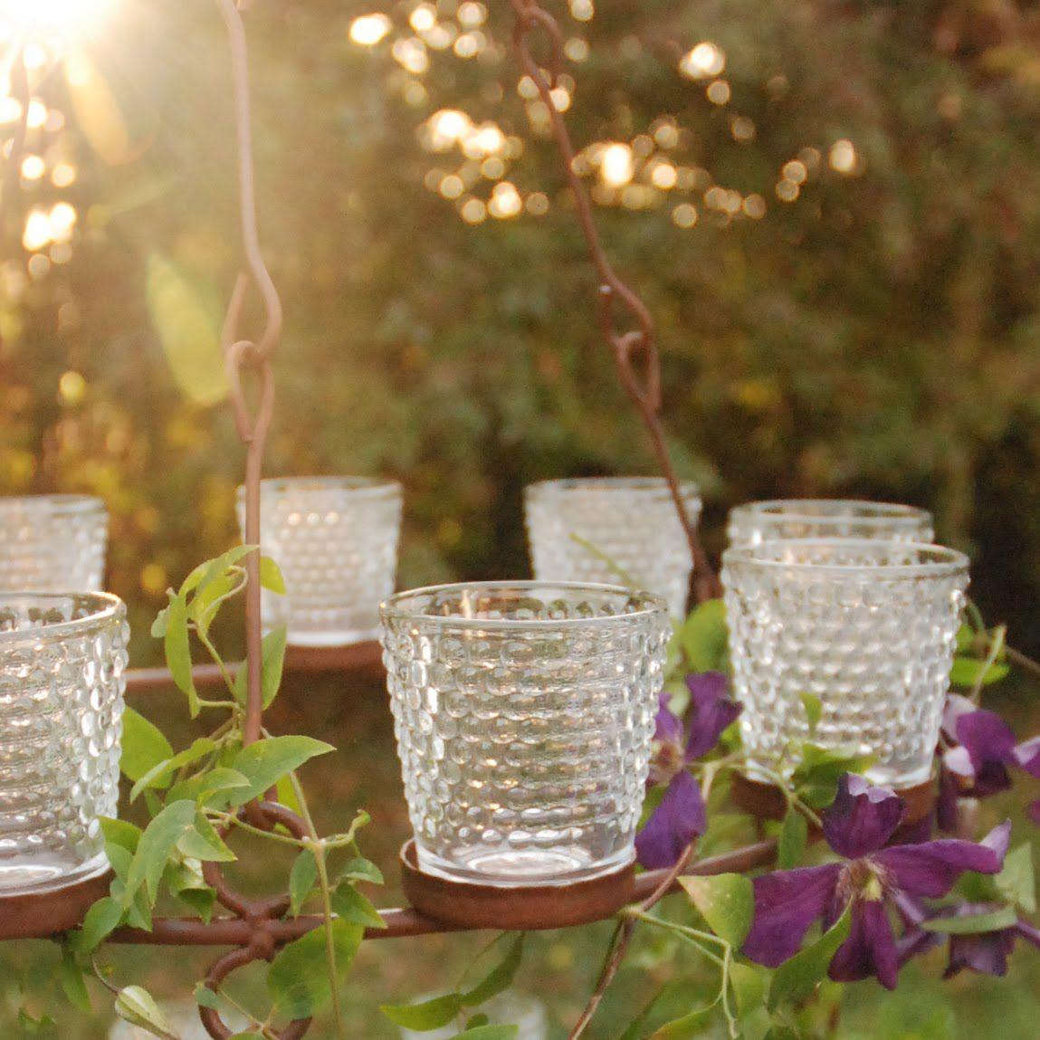 Tealight chandelier with clematis backyard pinterest clematis tealight chandelier with clematis aloadofball Gallery