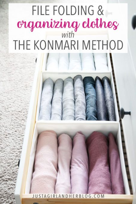 File Folding and Organizing Clothes with the KonMari Method