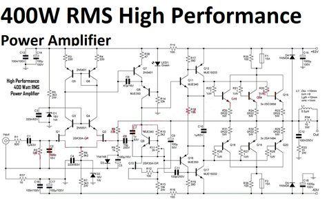 High Performance Power Amplifier 400 Watt | Circuit ...