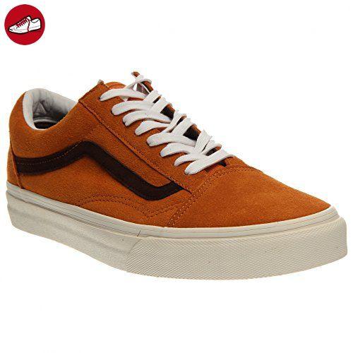 5d77c903e0 Vans Old Skool Womens Suede Skate Shoes Trainers Suede Shoes Trainers  Orange