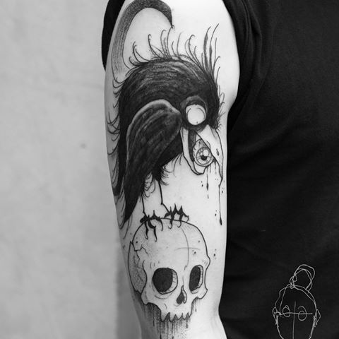 oden's crows Google Search Skull tattoo, Tattoos, Crow