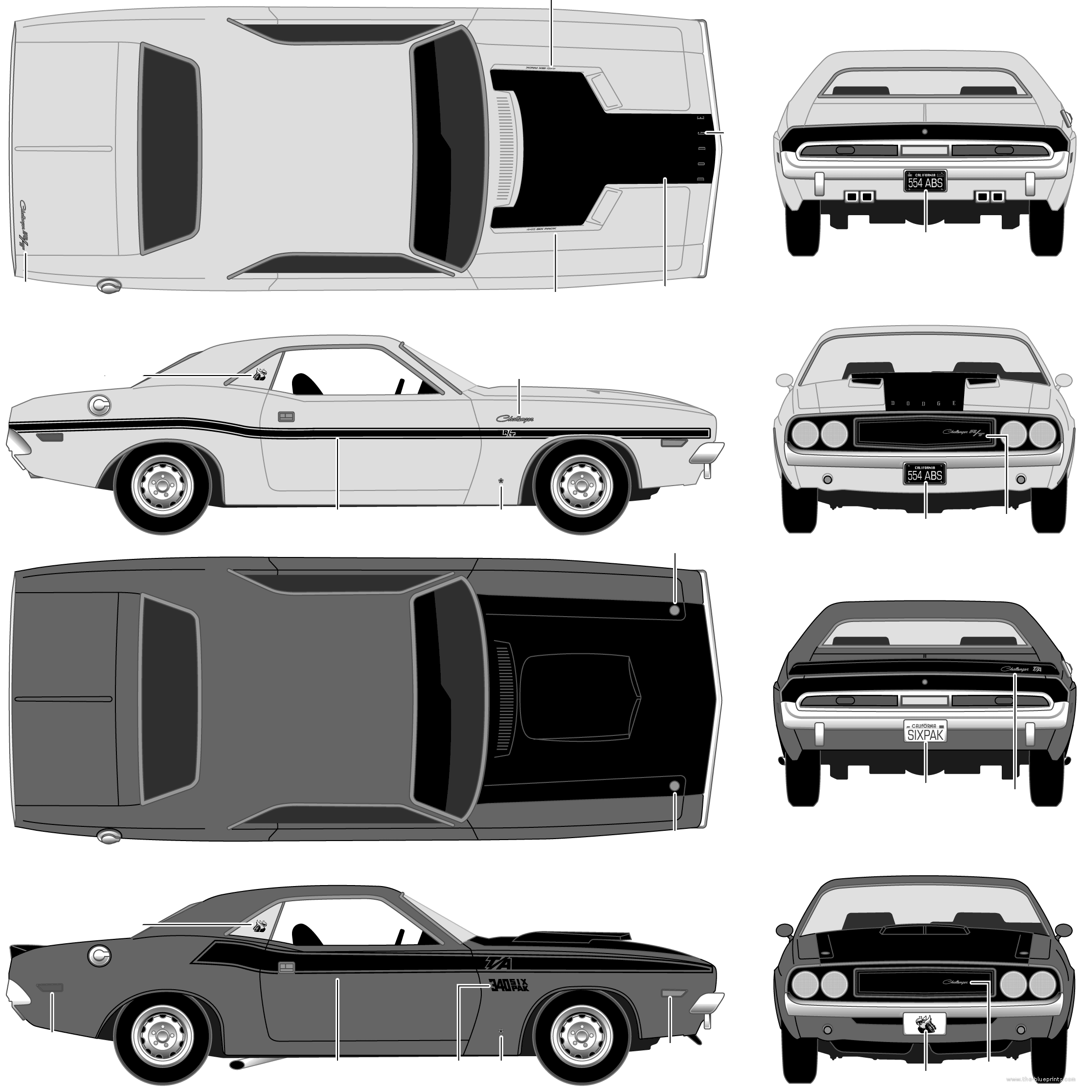Dodge challenger 1970 blueprints cars pinterest dodge dodge challenger 1970 blueprints malvernweather Image collections