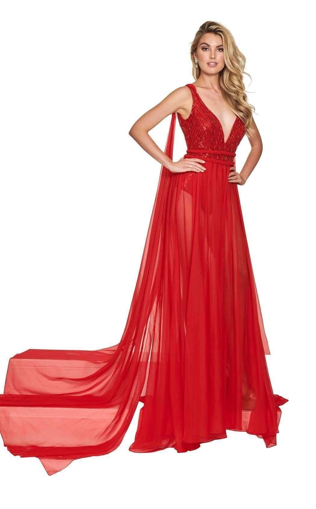 Rachel Allan 5980 WH Dress