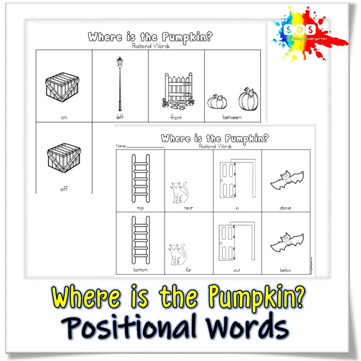 Positional Words Where Is The Butterfly Fish Pumpkin