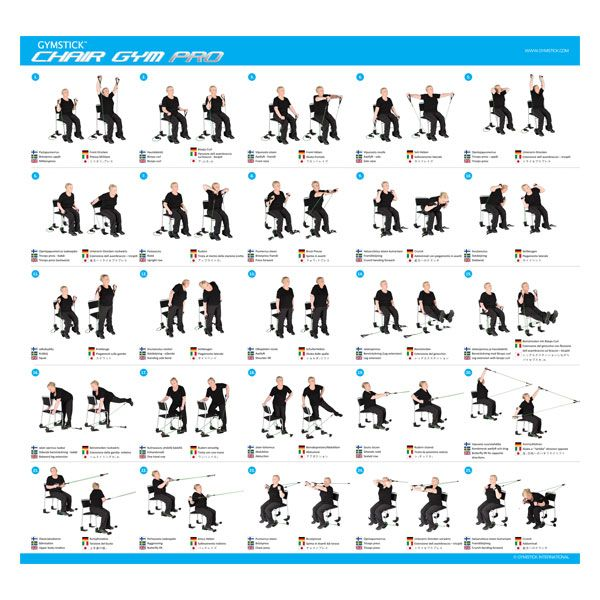 Chair gym exercise workout list gymstick chair workouts for Chair workouts