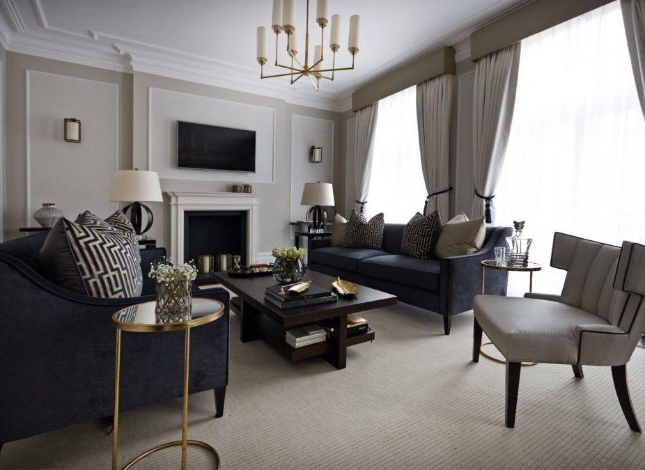 fascinating high end living room design   Interior design portfolio - Marlborough house high-end ...