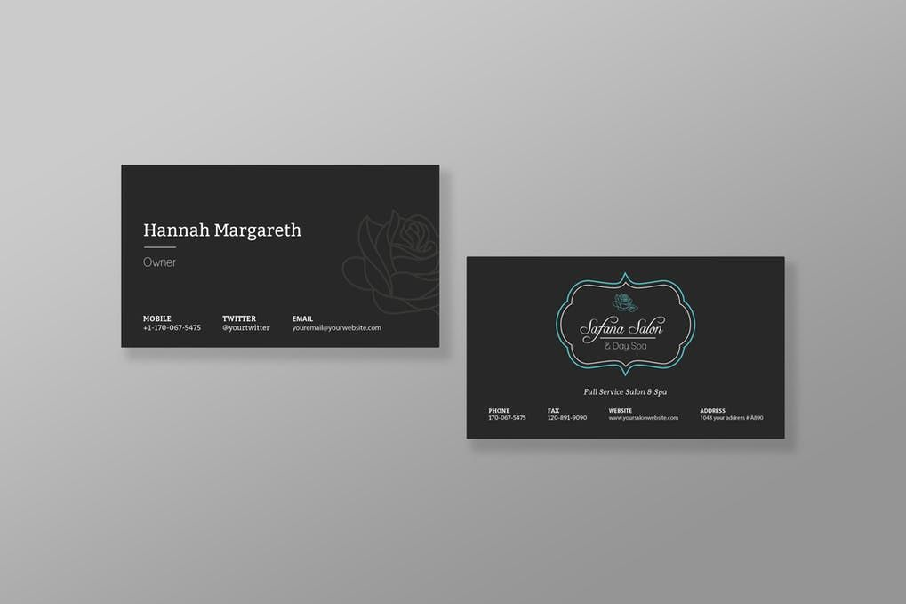 Safana salon vintage business card template psd business card safana salon vintage business card template psd reheart Image collections