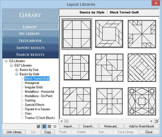 Quick Tip Tuesday Layout Library Electric Quilt Quilting Software Modern Quilt Blocks