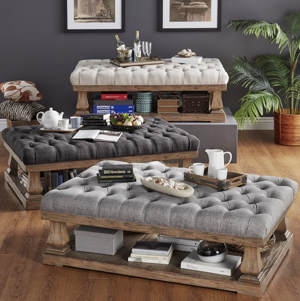Cushioned Coffee Table Ottoman In 2019 Home Tail