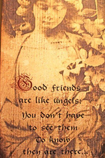 Quote about good friends and angels being similar, from BeautifulbyDesign.co