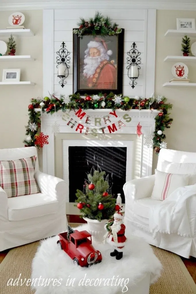 139 fabulous christmas decorated fire rooms to inspire - page 36 > Homemytri.Com #kerstboomversieringen2019