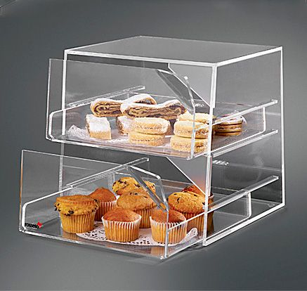 Rosseto Two Drawer Clear Acrylic Bakery Display Case Foodpresentation Hospitality Bakery Display Case Bakery Display Food Display