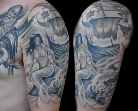 Pin By Allison Coleman On Scribble Tattoos Mermaid Tattoo Designs