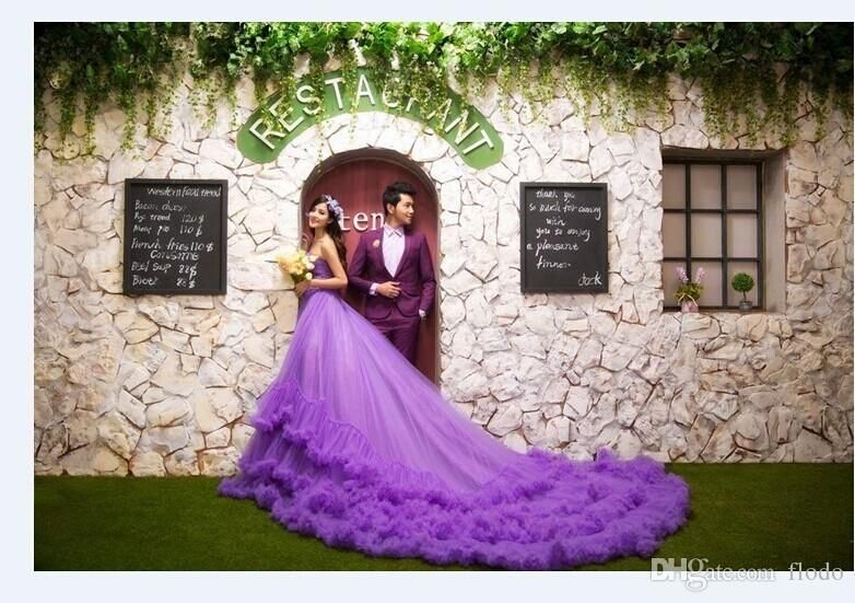 Beautiful Purple Wedding Gown!
