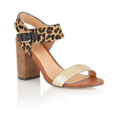 Leopard print sandals, Block sandals
