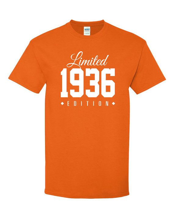 1936 Limited Edition 80th Birthday Party Shirt By TeeHeeHeeShirt