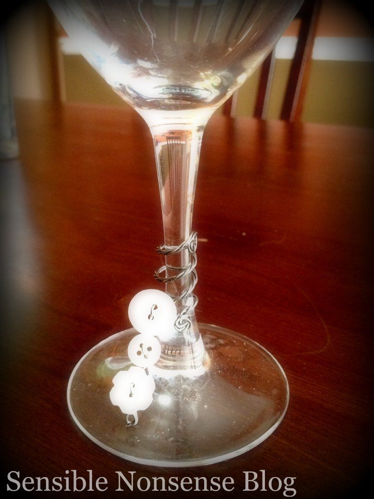 My Vintage Window Vintage Button Project 2 Wine Charms Wine Glass Charms Wine Craft