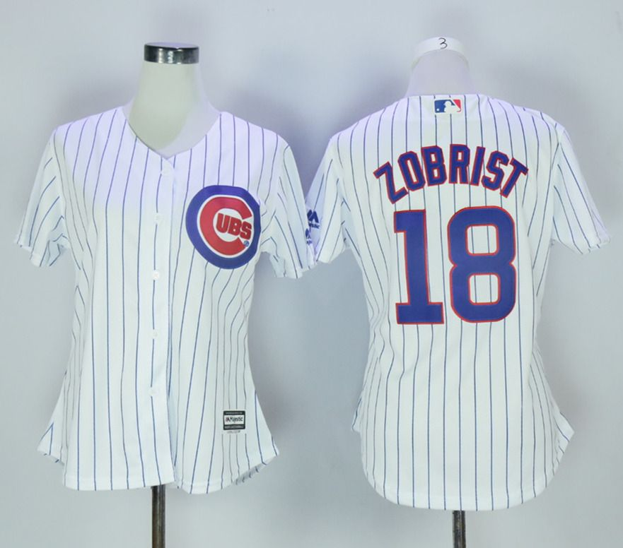 015e5221c ... low price cubs 18 ben zobrist white women new cool base jersey chicago  cubs jersey cubs