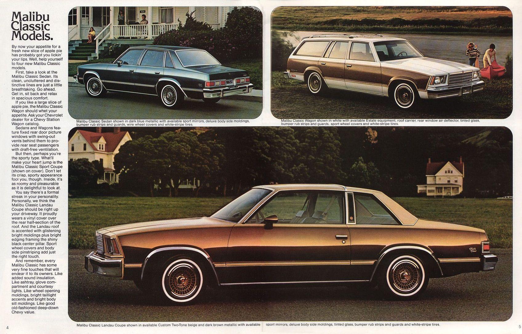 1979 Chevrolet Malibu Brochure Chevrolet Malibu Chevy Malibu