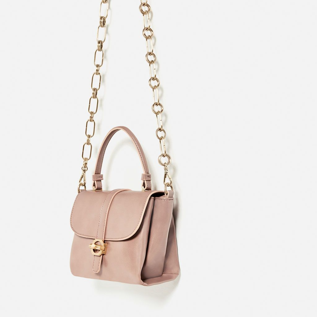 LEATHER CITY BAG WITH INTERCHANGEABLE HANDLE-BAGS-WOMAN-COLLECTION SS/17 | ZARA United States