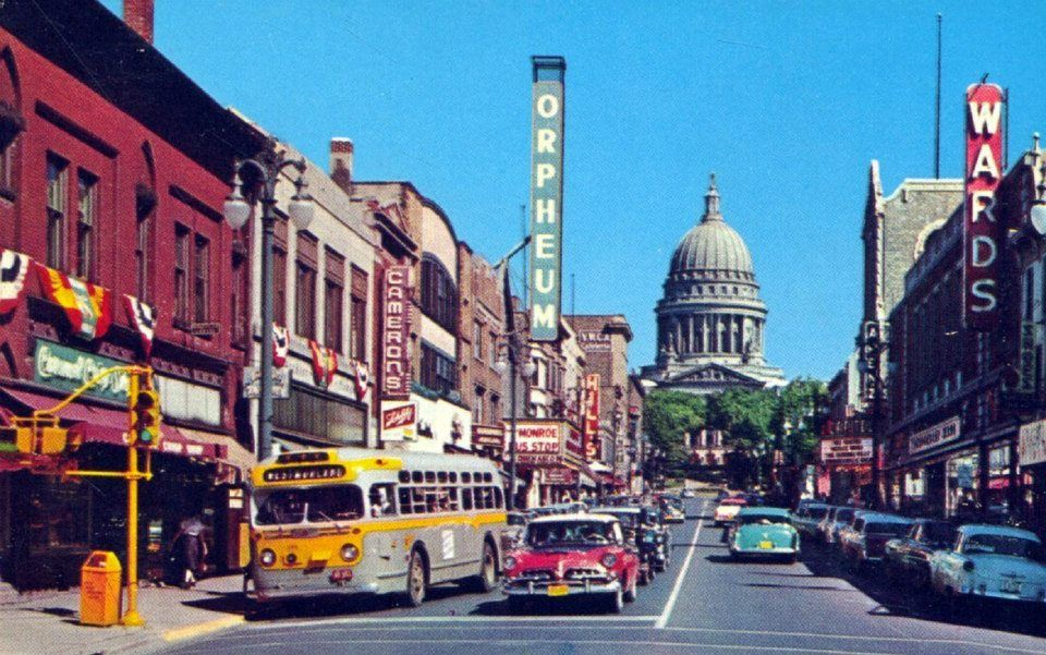 State Street In Madison Wisconsin Circa 1950 Madison Wisconsin