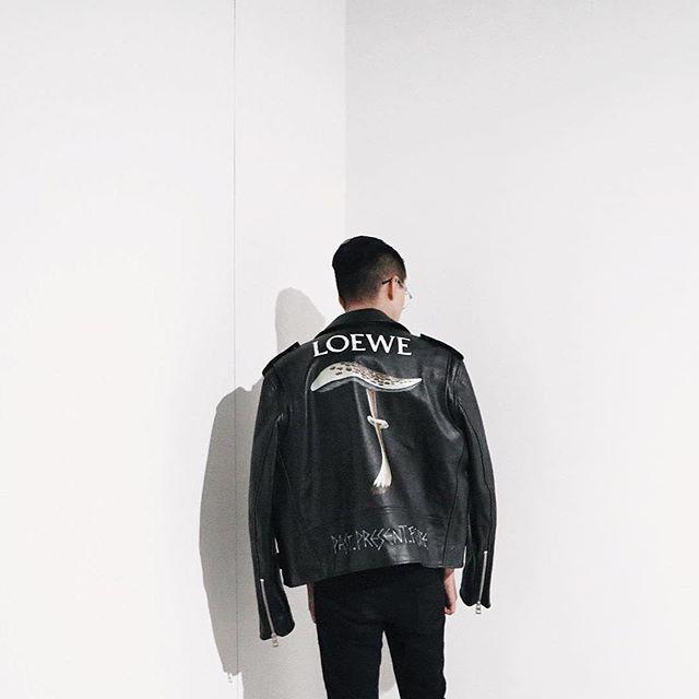 The Cool Mushroom Loewe Mushroom Leather Jacket From Fall Winter 2016 Collection Repost From Char1es Loewe Loewefw16