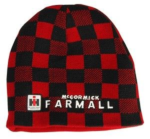 International Harvester Tractor Red Knit Hat Cap Hat Gift IH