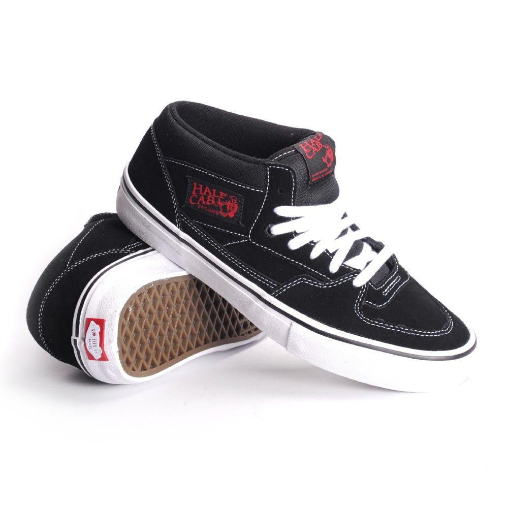 Chaussures Vans Half Cab Pro Black White Red
