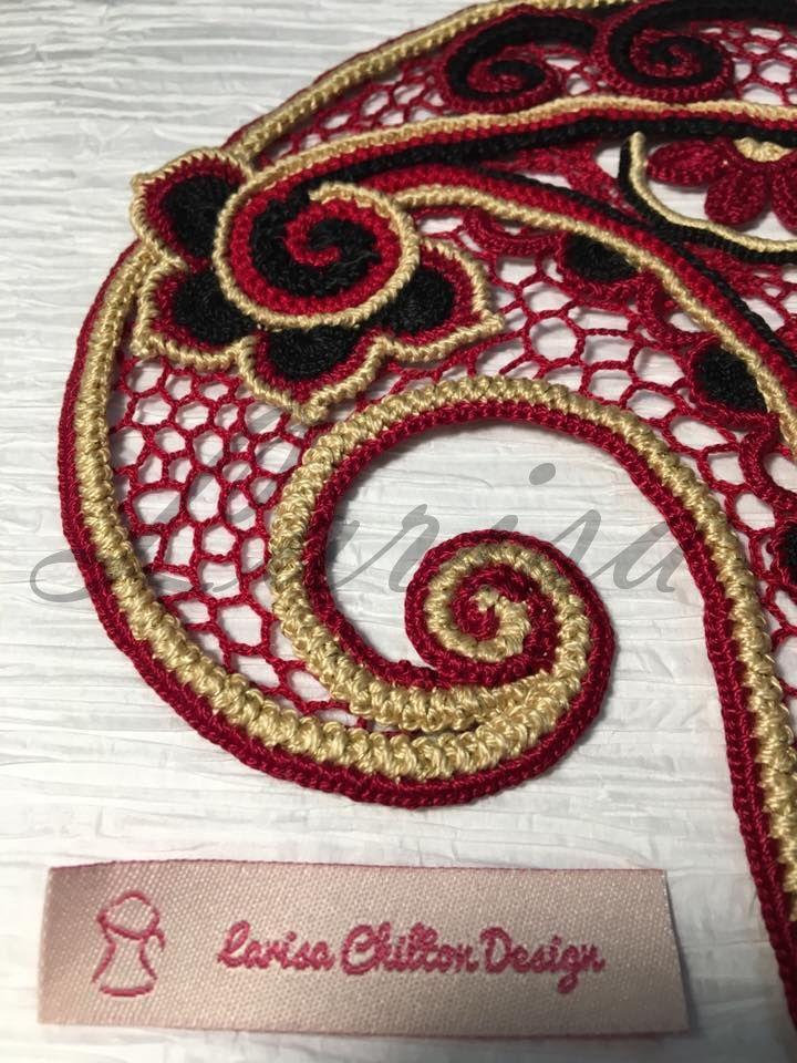 Irish Crochet. Modern Technique. Crochet Paisley http://www ...