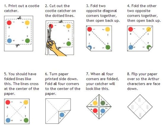Quick Cootie Catcher Printables And Lesson Plan Ideas  Catcher