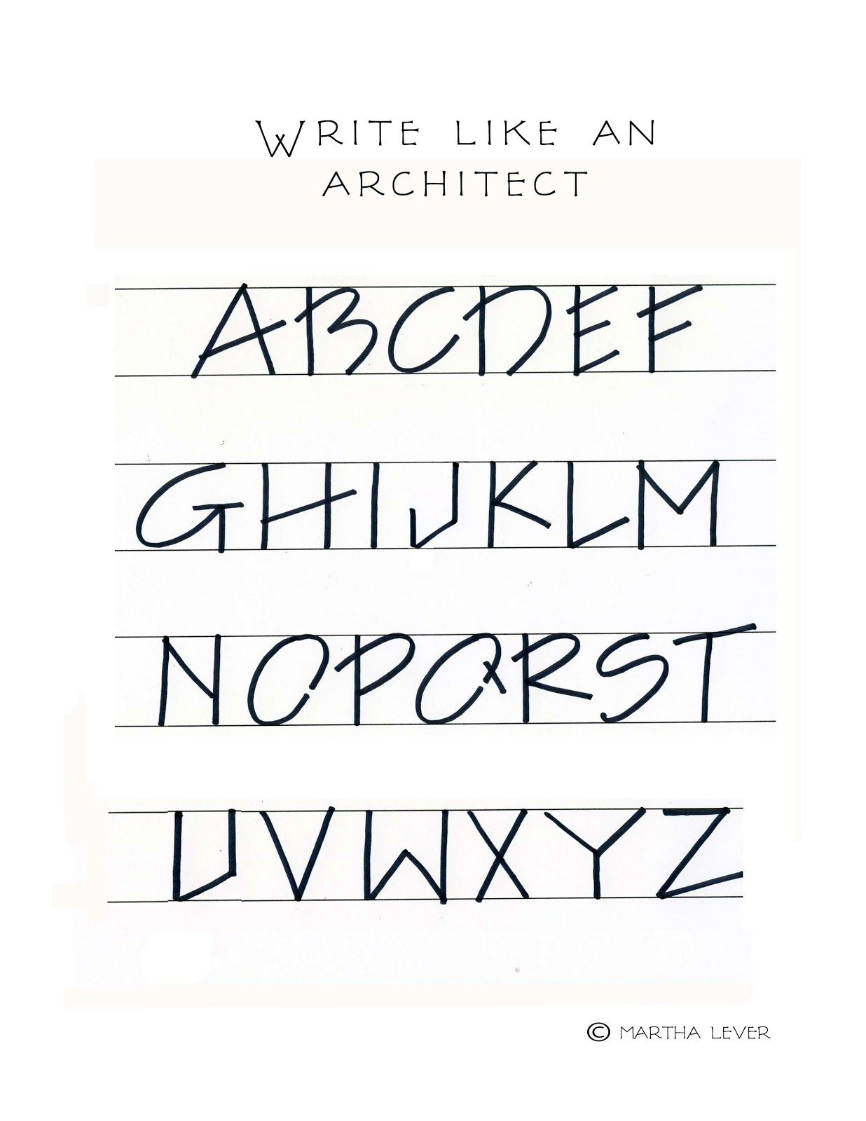 Pin by Sasha on Productivity | Architectural lettering ... |Architectural Lettering Samples