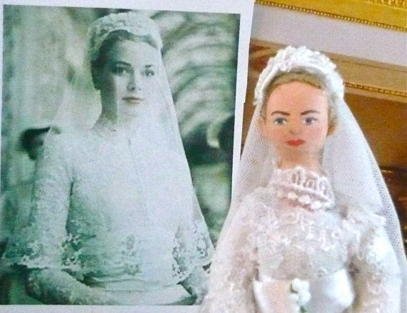 Princess Grace of Monaco Wedding Day Doll Miniature Art Collectible ...