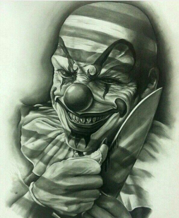Злые клоуны картинки эскизы